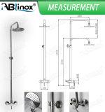 Misturador do chuveiro do punho do aço inoxidável de Ablinox único