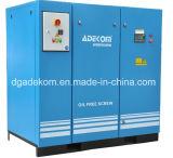 Compressor de ar giratório livre do parafuso do petróleo VSD da injeção da água (KE132-13ET) (INV)