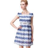 Der 2016 Sommer-Riemen-Frauen-Kleid-Schutzkappen-Hülsen-Kleid abnehmen