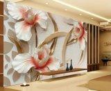 Papel de parede floral gracioso bonito da decoração da parede da boa qualidade para o quarto da base