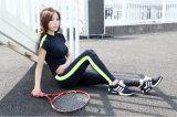 Qualitäts-Kontrast-Farben-Polyester Elestane Yoga-Sets