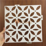 Diseño de flor de color blanco Chapa de aluminio perforada