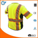 Sicherheits-Weste der Kategorien-3 mit reflektierenden Radioschleife Multi-Taschen