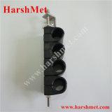 Datilografar embora o bloco de cabo, braçadeira de cabo do aço inoxidável