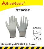 Supershield PU palma del guante de corte 5 (ST3050P)