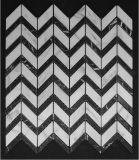 مساس/[بسكتوف]/حسك رنك/[فرنش] أسلوب أرضيّة/جدار فسيفساء بيضاء رخاميّة لأنّ غرفة حمّام [فلوورينغ تيل]