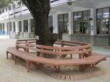 Salon en plastique en bois