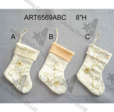 Media bordada mano Decoration-3asst. de la Navidad