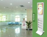 18.5 - Zoll LCD-Screen-Panel-Fußboden, der Monitor-Kiosk Digital-Displaytouchscreen steht