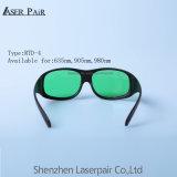 Óculos de proteção de segurança consideráveis do laser do frame #36 para 800-830nm O.D 3+ & Dir libra 3