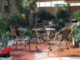 Presidenze di bambù di vimini del caffè della Francia di stile di svago del rattan di plastica esterno moderno della mobilia