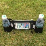 Sac de support de téléphone de taille de sport en plein air avec bouteilles d'eau