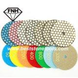 Гибкий истирательный диск смолаы диаманта для сухого полируя камня