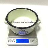 Conjunto de cena del tazón de fuente del almacenaje del esmalte de los utensilios de cocina