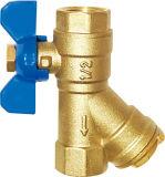 La vávula de bola de cobre amarillo del filtro (EM-V-20)