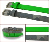 Green Camo Print PU Fashion Belt