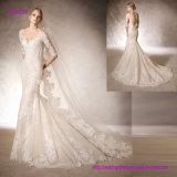 Платье венчания Mermaid при Neckline lhbim сделанный от вышитого Tulle