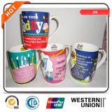 Tazza di caffè di ceramica personalizzata decalcomania per i regali di natale promozionali