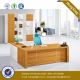 Hot Sale Furniture Wooden L Shape Manager Office Table (HX-GD011)