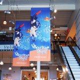 De volledige Grafiek van de Kleur drukte de Tweezijdige Banner van de Reclame van de Banner af