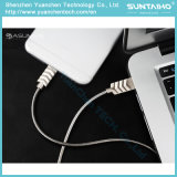 Cabo cobrando rápido do USB da mola da liga do zinco 2017 para iPhone5 5s 6 6s 7