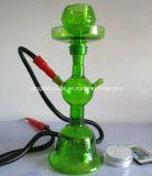 高級な塗られた緑色のガラス煙る管