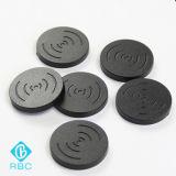 Tag passivo personalizado da moeda do tamanho RFID NFC para o seguimento do recurso