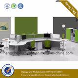(NS-NW014)木のオフィスの区分2のシートのスタッフ表ワークステーション