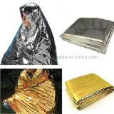 Gold-oder Silber-Erste HILFEen-Emergency Plastik-Zudecke
