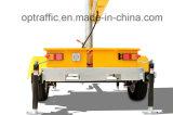 Één Mobiele LEIDENE van het Teken van het Bericht van de Apparatuur van de Controle van het Verkeer van de Kleur Tijdelijke Veranderlijke Aanhangwagen van de Vertoning