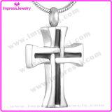 Ijd8024 de DwarsCharme Van uitstekende kwaliteit van Christus van de Houder van de Herinnering van de As van de Halsband van de Tegenhanger van het Roestvrij staal
