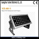 72*3W luz da face de arruela da parede do diodo emissor de luz do estágio RGBW