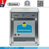 Grande caixa de sugestões em alumínio para uso em escritórios e bancos