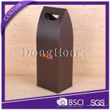 Único en forma de cartón duro única botella de vidrio caja de vino