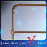 表示棚(YZ161801)の陳列だなのステンレス鋼の陳列台のハンガーラック展覧会ラック昇進ラック