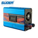 Inversor da potência solar de Suoer 12V 220V 600W com anti conexão da reserva da entrada (SAA-D600AF)