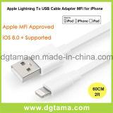 Молния к переходнике Mfi кабеля USB для Apple для iPhone