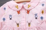 Vestito dalle ragazze dei bambini di Lace&Fold&Cartoon&Printed di modo