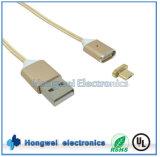 Acessórios do telefone móvel que cobram cabo magnético de nylon do USB da tâmara o micro