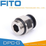 Le PC pneumatique G-Filètent des garnitures avec nickelé et le joint circulaire PC8-02