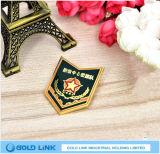 Pin de encargo del emblema de la organización del ejército de la escuela de la divisa del metal del barniz que cuece al horno