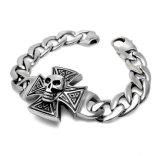 Projeto gótico do crânio da jóia de traje do aço inoxidável dos braceletes 316L dos homens