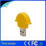Vara personalizada da memória Flash do presente do USB do capacete do PVC vara por atacado