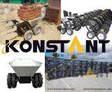 電流を通されたバケツの手押し車または堆肥のトラックか小型ローダー