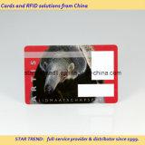 Cartão Cr80 da identificação com a listra magnética para a segurança
