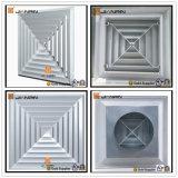 Difusor do teto do quadrado da grade de ar da maneira do alumínio 4