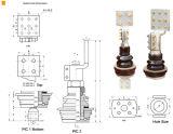 Serie 1kv 4000A del FB del buje del transformador---6000A