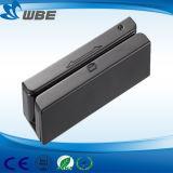 Triplicar-se segue o mini leitor de cartão magnético manual do USB do furto