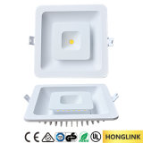 8W Double Color Ultra-Thin Decorative Recessed Ceiling DEL Panel Light