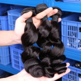 Pelo negro natural del pelo brasileño (QB-BVRH-LW)
